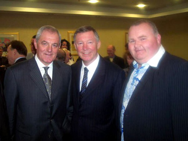 Scott Glynn with Walter Smith and Sir Alex Ferguson
