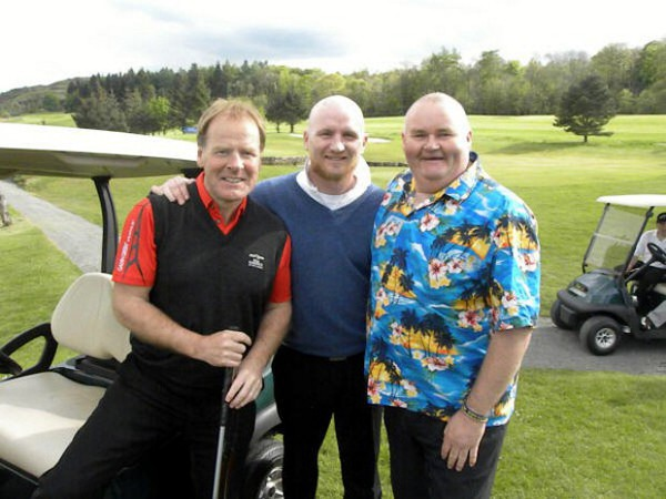 Scott Glynn with Murdo McLeod and John Hartson