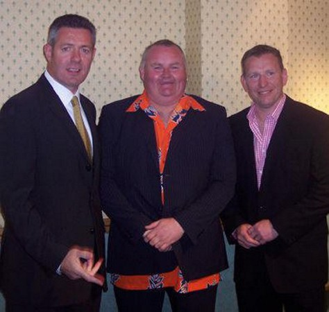 Scott Glynn with Gavin Hastings and Andy Nicol